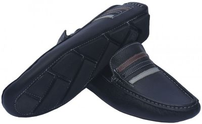 Driving moccasin moc Casual Shoes Nubuck Leather, Colour Black – image 2