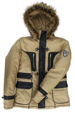 Ladies Hooded jacket, Cream Beige