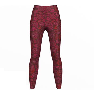 GermanWear Pink Paisley Leggings sehr dehnbar Sport Gymnastik Training Tanzen Freizeit