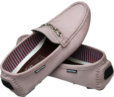 Driving moccasin moc Casual Shoes Nubuck Leather Light Pink – image 4