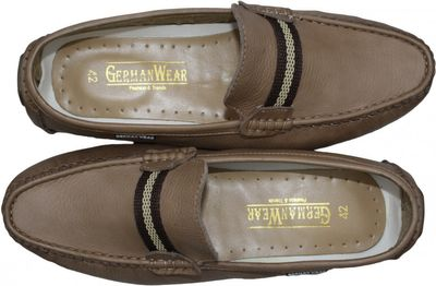 Driving moccasin moc Casual Shoes Nubuck Leather Brown – image 6
