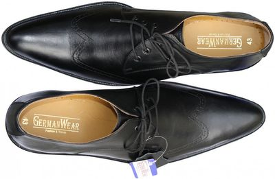 Business Shoes made of real Cowhide black – image 2