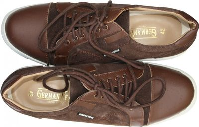 Sneakers made of cow split suede, brown – image 4