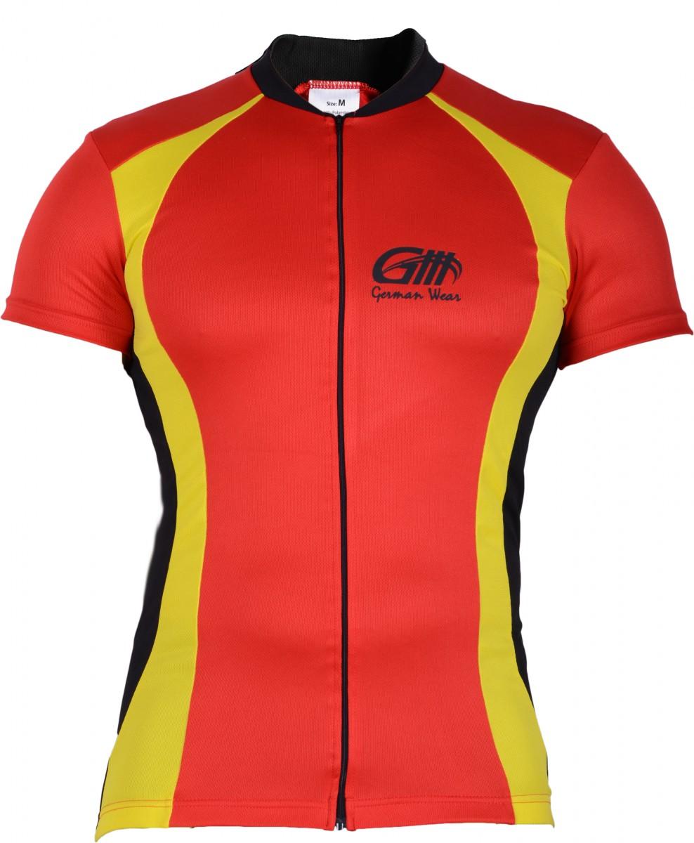Trikot Radtrikot Fahrradtrikot Fahrrad Radler-Trikot Shirt Jersey Rot//Neongelb