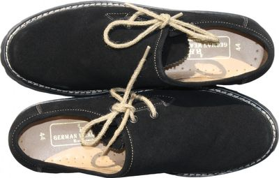 Bavarian Traditional Shoes / Haferl Shoes Haferlschuhe Suede,Color:Black – image 3