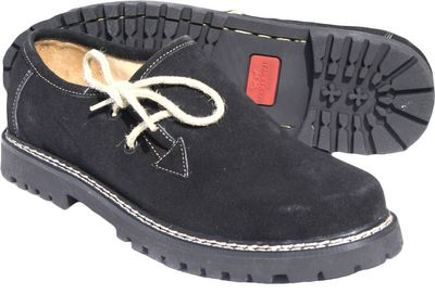 Bavarian Traditional Shoes / Haferl Shoes Haferlschuhe Suede,Color:Black – image 2