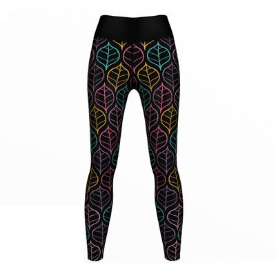 GermanWear Art Leaves Leggings sehr dehnbar Sport Gymnastik Training Tanzen Freizeit – Bild 1