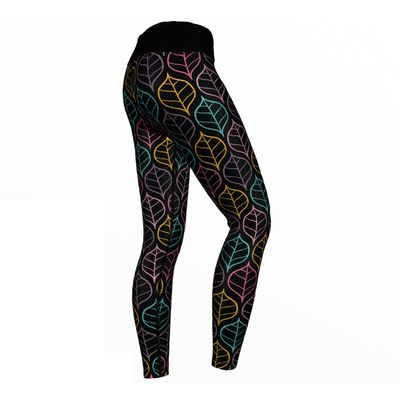 GermanWear Art Leaves Leggings sehr dehnbar Sport Gymnastik Training Tanzen Freizeit – Bild 2