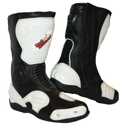 Motorbike Racing Sport Boots colour black/white – image 1
