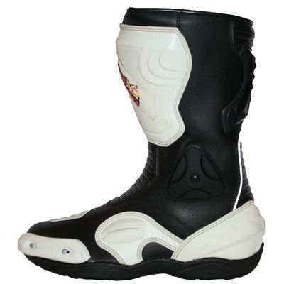 Motorbike Racing Sport Boots colour black/white – image 3