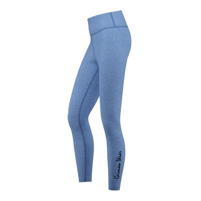 GermanWear Leggings Fitness Sport Gymnastik Training Tanzen Freizeit mittelblau melange – Bild 3