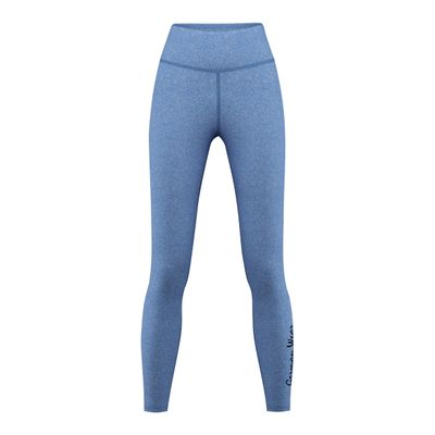 GermanWear Leggings Fitness Sport Gymnastik Training Tanzen Freizeit mittelblau melange