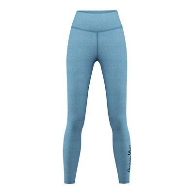 Leggins for Sports, Gym & Fashion stretch, turquoise melange