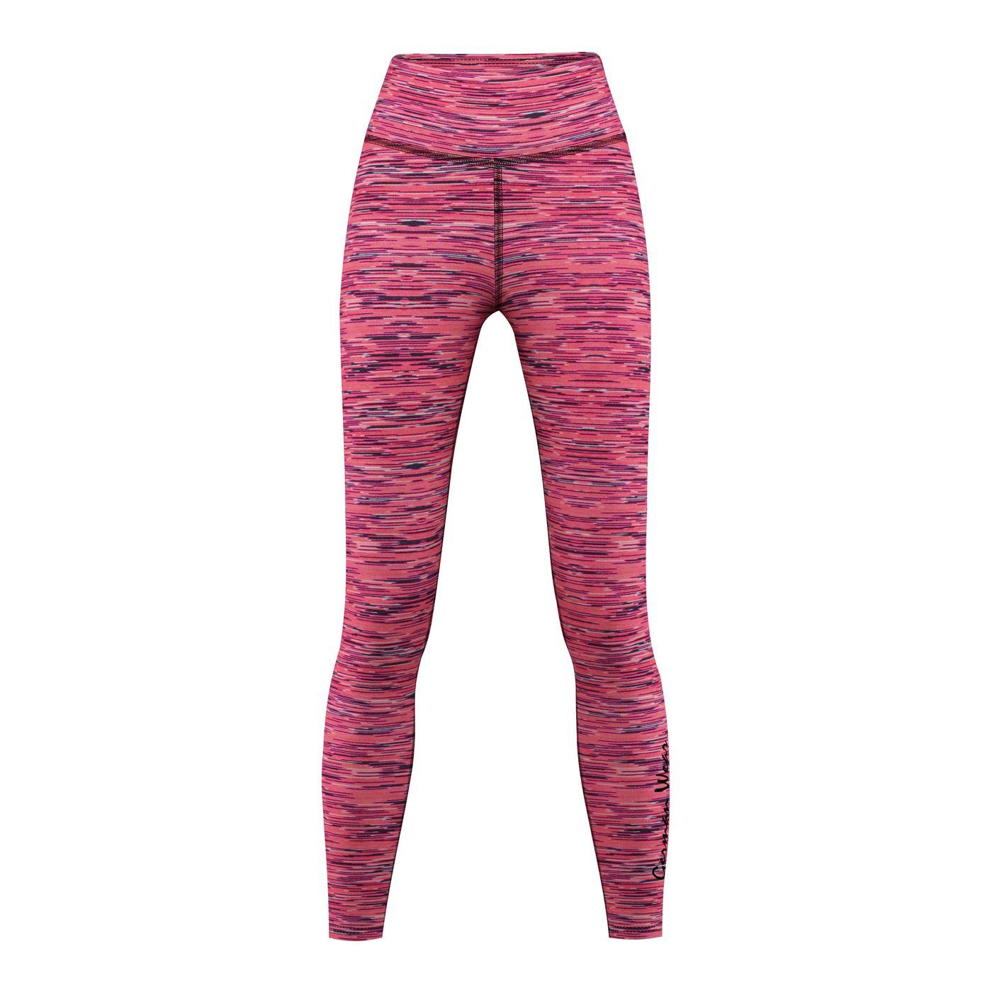 006027fbce Leggins for Sports, Gym & Fashion stretch, pink/black melange | German Wear  Bavarian Motorrad Sport Dresses & Shoes