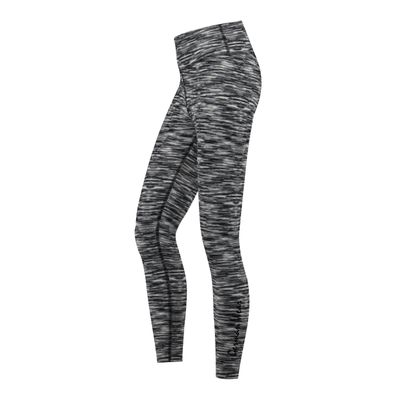 GermanWear Leggings Fitness Sport Yoga Gymnastik Training Tanzen Freizeit weiß\schwarz melange – Bild 2