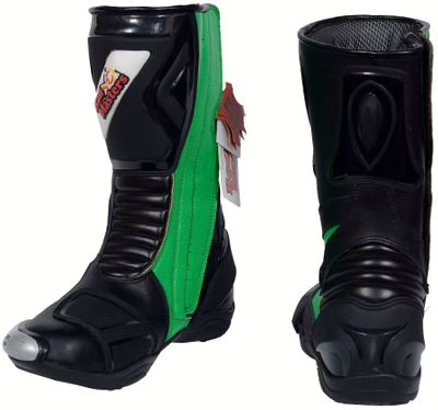 Motorbike Racing Sport Boots colour green/black – image 7