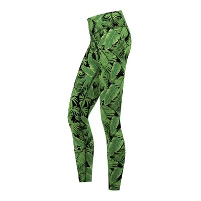 Jungle Leaves, Leggings sehr dehnbar Fitness Sport Gymnastik Training Tanzen Freizeit – Bild 2