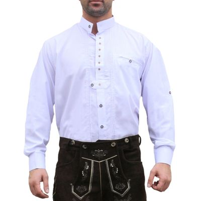 Traditional Bavarian Shirt For Lederhosen/Oktoberfest with Edelweiss embroidery – image 4