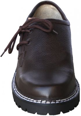 Bavarian Traditional Haferl Shoes For Lederhosen Nappa,Color: Dark Brown – image 4