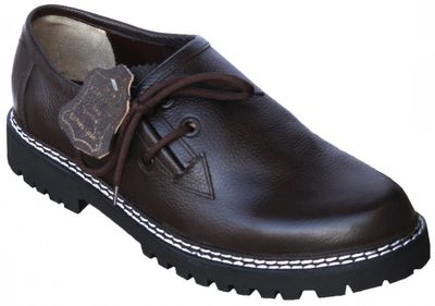Bavarian Traditional Haferl Shoes For Lederhosen Nappa,Color: Dark Brown – image 2