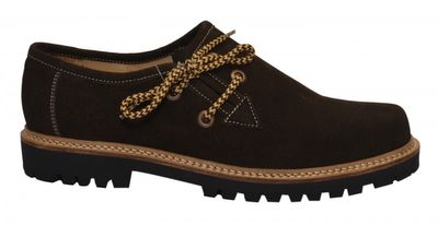 Bavarian Traditional Haferl Lederhosen Shoes cow Suede leather,color: Dark Brown – image 2