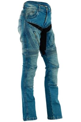 BULLDT, Ladies Motorbike Denim Jeans with Kevlar Lining removable Protectors – image 1