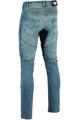 BULLDT Herren Kevlar Motorradjeans Motorradhose Denim Jeans Hose mit Protektoren blau – Bild 3