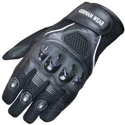 Motocross Motorbike Biker Summer Gloves Black – image 1