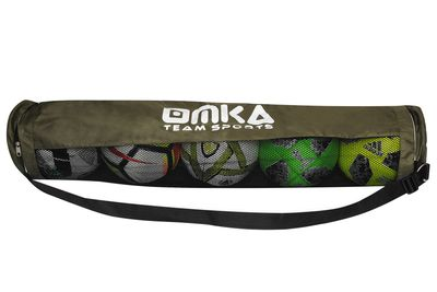 OMKA Fußball Rugby Handball Ballsack Reisetasche Carry Bag mit Schultergurt für 5 Bälle – Bild 8