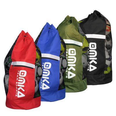 OMKA Fußball Rugby Handball Ballsack Reisetasche Carry Bag mit Schultergurt für 10 Bälle – Bild 1