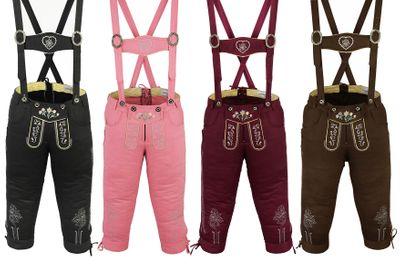 Damen Trachten Jeans Hose mit Hosenträgern