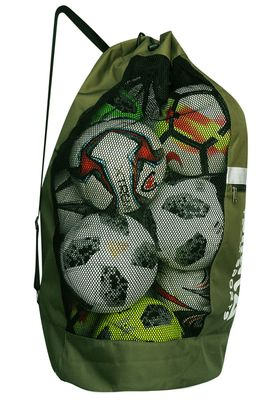 OMKA Football Rugby Handball ball bag travel bag Carry bag with shoulder strap for 10 balls – image 9