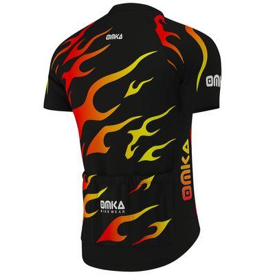 OMKA Herren Radtrikot Fahrrad Radler-Trikot Racing Performance Shirt mit Sublimationsdruck – Bild 3