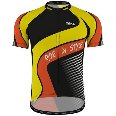 OMKA Pro Mens Team Racing Performance Cycling Jerseys with sublimation printing – image 1
