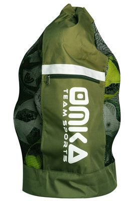 OMKA Football Rugby Handball ball bag travel bag Carry bag with shoulder strap for 10 balls – image 6
