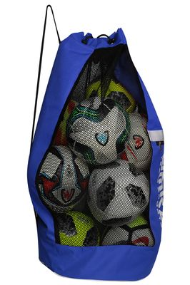 OMKA Football Rugby Handball ball bag travel bag Carry bag with shoulder strap for 10 balls – image 8
