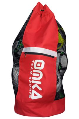 OMKA Football Rugby Handball ball bag travel bag Carry bag with shoulder strap for 10 balls – image 4