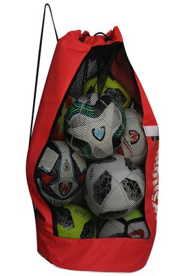 OMKA Football Rugby Handball ball bag travel bag Carry bag with shoulder strap for 10 balls – image 7