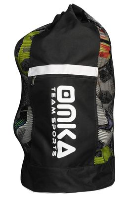 OMKA Football Rugby Handball ball bag travel bag Carry bag with shoulder strap for 10 balls – image 3