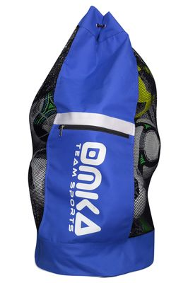 OMKA Football Rugby Handball ball bag travel bag Carry bag with shoulder strap for 10 balls – image 5