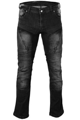 Motorbike Jeans with Protectors Black