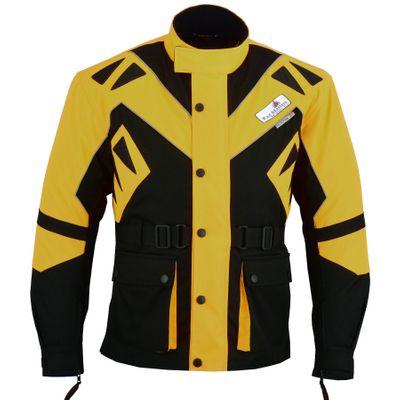 German Wear Cordura Textile Combi Motorbike jacket: Black/Yellow