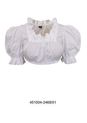Trachtenbluse / Covert blouse in fine cotton blend fabric in color: White