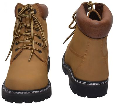Boots Lace-up Genuine Cowhide Leather Shoes, Color: Middle Brown – image 5