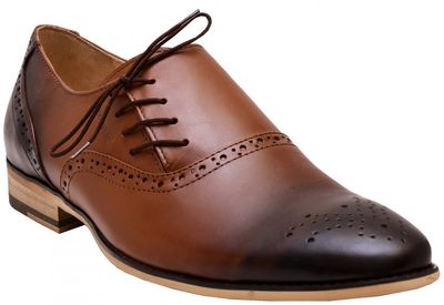 Business shoes shoes Genuine leather shoes brown – image 1