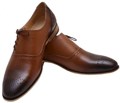 Business shoes shoes Genuine leather shoes brown – image 4