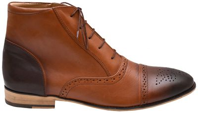 Business shoes bootee Genuine leather shoes brown – image 3
