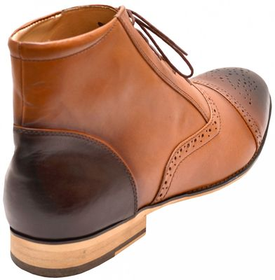 Business shoes bootee Genuine leather shoes brown – image 4