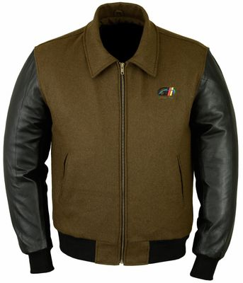 College Jacket leather sleeves Brown