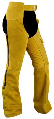Western Leather Indian Chaps Pants ,Western Carnival Fasching, Color:Ochre – image 1